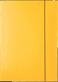 Teczka kartonowa z gumką lakierowana Esselte, A4, 400g/m2, 4mm, żółty