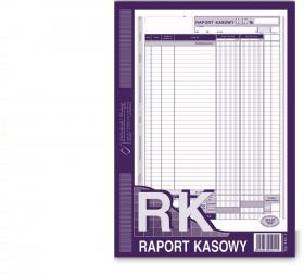 Druk akcydensowy Raport kasowy MiP, A4, 1 kopia, 80k