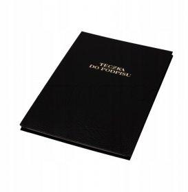 Teczka do podpisu Barbara, A4, 8 kart, czarny