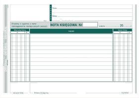 Druk akcydensowy Nota księgowa MiP 416-3, A5, 1 kopia, 80k