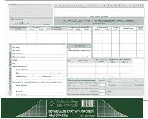 Druk akcydensowy Indywidualna karta wynagrodzeń-uniwersalna MiP, A4, offsetowy, 40k