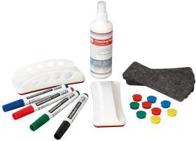 Zestaw startowy do tablic 2x3, holder, magnesy, markery, filce, środek czyszczący
