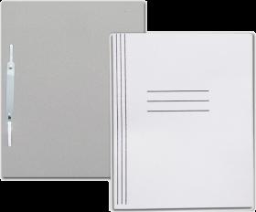Skoroszyt kartonowy bez oczek Barbara, z fałdą, A4, do 150 kartek, 280g/m2, szary
