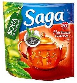 Herbata czarna w torebkach Saga, 100 sztuk x 1.2g