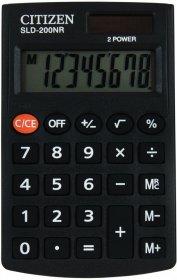 Kalkulator kieszonkowy Citizen SLD-200NR, 8 cyfr, czarny
