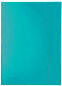 Teczka kartonowa z gumką lakierowana Esselte, A4, 400g/m2, 4mm, niebieski