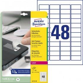 Etykiety Avery Zweckform, plomby, A4, 45.7x21.2mm, 20 arkuszy, biały