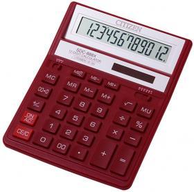 Kalkulator biurowy Citizen SDC-888X, 12 cyfr, czerwony