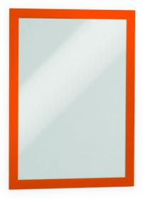 Ramka samoprzylepna, magnetyczna Durable Duraframe, A4, 2 sztuki, pomarańczowy
