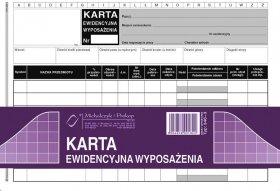 Druk akcydensowy Karta ewidencyjna wyposażenia MiP, A5, offsetowy, 50k