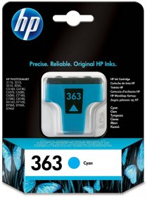 Tusz HP 363 (C8771EE), 400 stron, cyan (błękitny)