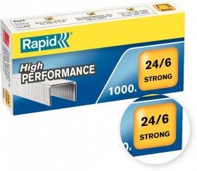 Zszywki Rapid Strong, 24/6, 1000 sztuk, srebrny