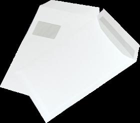 Koperta standardowa NC Koperty, C4, z paskiem HK, okno lewe górne, 50 sztuk, biały