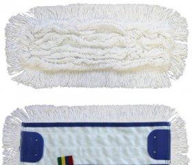 Mop płaski bawełniany z zakładkami Merida Optimum, 40x11cm - końcówka