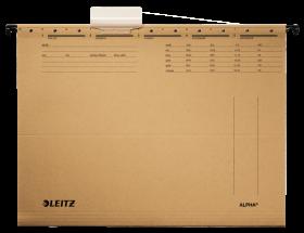 Teczka zawieszana kartonowa Leitz Alpha, A4, 348x260mm, 230g/m2, brązowy