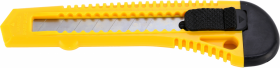 Nożyk z wymiennym ostrzem Centrum, 18mm, żółty