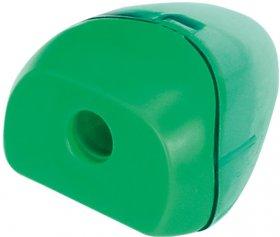 Temperówka z pojemnikiem Fiorello, plastik, 1 otwór, mix kolorów