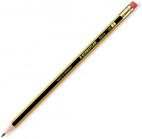 Ołówek Staedtler Noris, HB, z gumką, czarno-żółty
