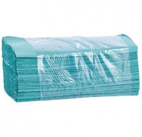 Ręcznik papierowy Merida, jednowarstwowy, w składce V, 200 składek zielony