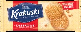 Herbatniki Krakuski, deserowe z cukrem, 200g