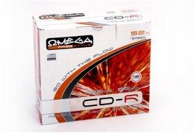 Płyta CD-R Omega Freestyle Slim, do jednokrotnego zapisu, 700MB, 10 sztuk