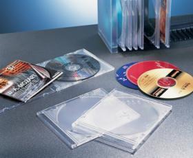 Pudełko na płytę CD Esselte, 5 sztuk,transparentny