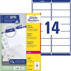 Etykiety adresowe Avery Zweckform, 99.1x38.1mm, 100 arkuszy, biały