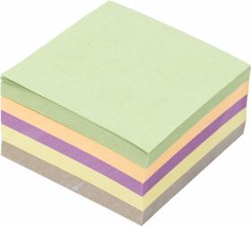 Kostka do notowania Barbara, klejona, 85x85mm, 400 kartek, mix kolorów pastelowych