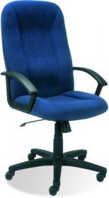 Fotel biurowy - gabinetowy Nowy Styl Mefisto M-62, welur, granatowy