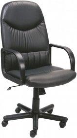 Fotel biurowy Nowy Styl Model 8000 V-4, skaj, czarny