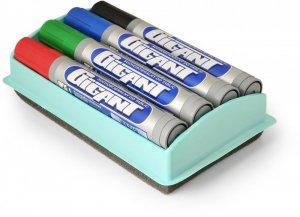Marker suchościeralny Kamet Gigant, okrągła, 4 sztuki, 3mm, mix kolorów + gąbka
