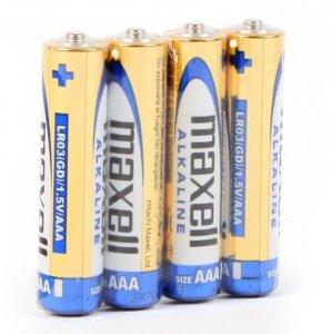 Bateria alkaliczna Maxell, AAA, 4 sztuki