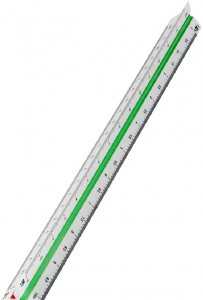 Skalówka Leniar, 30cm, Nr5 1:10-1:50, mix kolorów