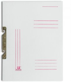 Skoroszyt kartonowy zawieszany Barbara, A4, do 150 kartek, 280g/m2, biały
