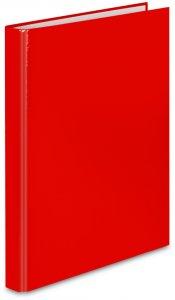 Segregator ringowy VauPe FCK, A4, szerokość grzbietu 25mm, do 150 kartek, 2 ringi, czerwony