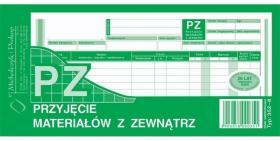 Druk akcydensowy PZ Przyjęcie materiałów z zewnątrz MiP, 1/3 A4, wielokopia, 80k