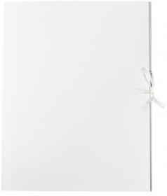 Teczka wiązana Barbara, A4, kartonowa, 280g/m2, 30mm, biały