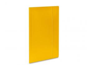 Teczka kartonowa z gumką Barbara, A4, 3mm, żółty