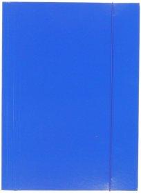 Teczka kartonowa z gumką Barbara, A4, 3mm, niebieski
