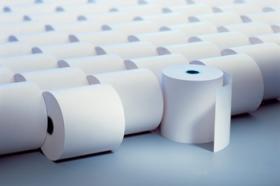 Rolka papierowa termiczna Emerson, 49mm x 30m, 50+/- 6g/m2, biały