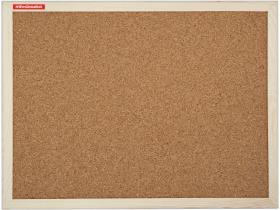 Tablica korkowa Memoboards, w ramie drewnianej, 100x80cm, brązowy