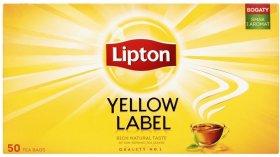 Herbata czarna w torebkach Lipton Yellow Label, 50 sztuk x 2g