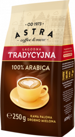 Kawa mielona Astra Łagodna Tradycyjna, drobno mielona, 250g