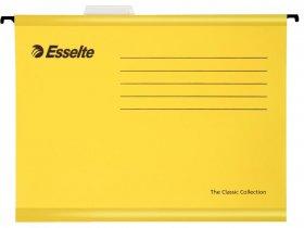 Teczka zawieszana kartonowa Esselte Classic, wzmacniana, A4, 345x240mm, 210g/m2 żółta