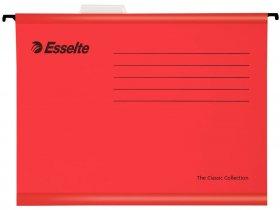 Teczka zawieszana kartonowa Esselte Classic, wzmacniana, A4, 345x240mm, 210g/m2 czerwony