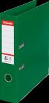 Segregator Esselte No.1 Power, A4, szerokość grzbietu 75mm, do 500 kartek, zielony