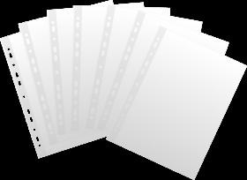 Koszulki groszkowe Esselte, A4, 35µm, 100 sztuk, transparentny