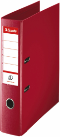 Segregator Esselte No.1 Power, A4, szerokość grzbietu 50mm, do 350 kartek, bordowy