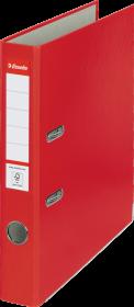 Segregator Esselte, A4, szerokość grzbietu 50mm, do 350 kartek, ekonomiczny, czerwony