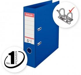 Segregator Esselte No.1 Power, A4, szerokość grzbietu 75mm, do 500 kartek, niebieski
